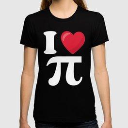 I Love Pi Funny Math graphic T-shirt