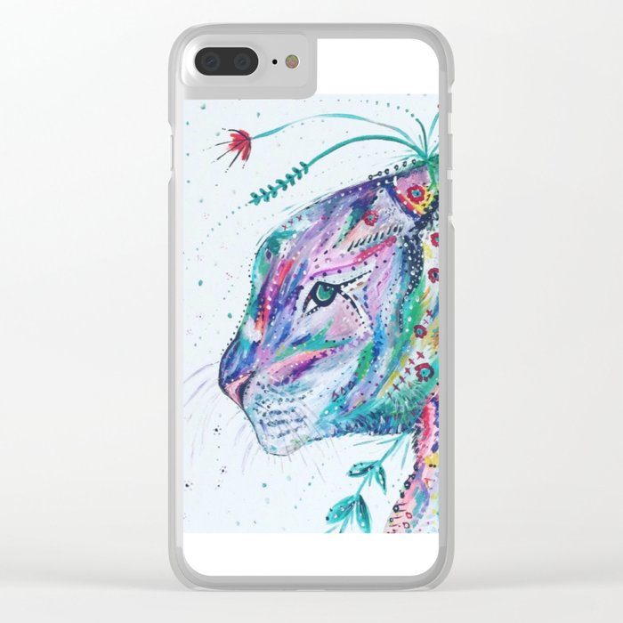Tiger in the Garden Clear iPhone Case