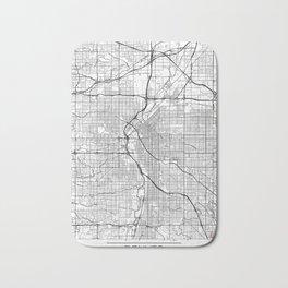 Denver Map White Bath Mat