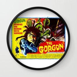The Gorgon, vintage horror movie poster, 1964 Wall Clock