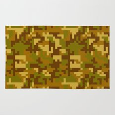 Green and Yellow Desert Army Camo pattern Rug