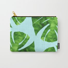 Tropical minimalist leaves pattern Carry-All Pouch