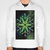 snowflake Hoodies featuring Snowflake by Ellen Turner