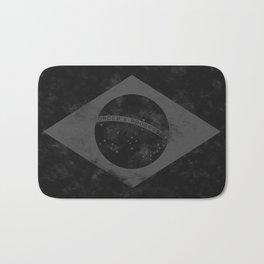 Black Brazil Flag Bath Mat