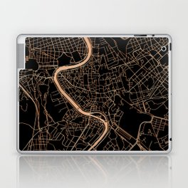 Black and gold Rome map Laptop & iPad Skin