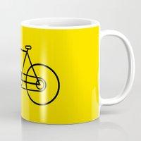 bicycle Mugs featuring Bicycle by Luke Turner