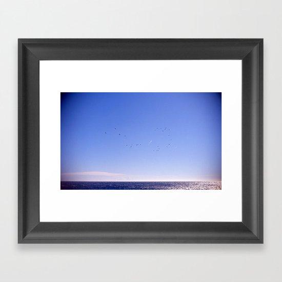 Birds Blue Sky Constellation Framed Art Print