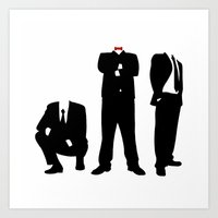 suits Art Prints featuring Suits by ChrisShirts