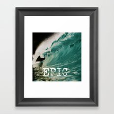 EPIC WAVE  Framed Art Print