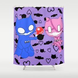 BatCat Shower Curtain