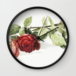 Roses from The Miriam and Ira D Wallach Division Of Art Prints and Photographs Picture Collection Wall Clock