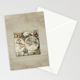 World Old Map Stationery Cards