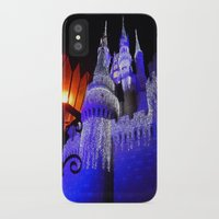 spires iPhone & iPod Cases featuring Blue Spires by Dragons Laire