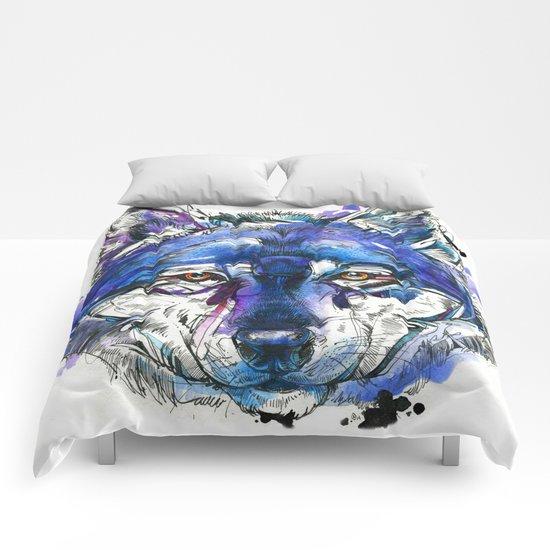 Indigo Wolf Comforters