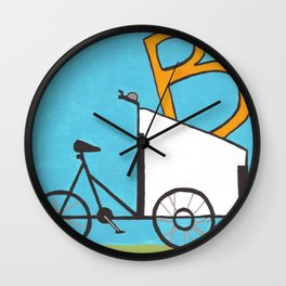 B is for Boxcycle Wall Clock