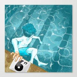 Swimmin' Canvas Print