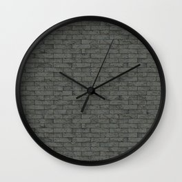 Grey Stone Bricks Wall Texture Wall Clock