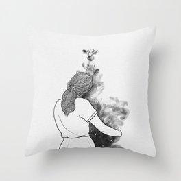 A little wander. Throw Pillow