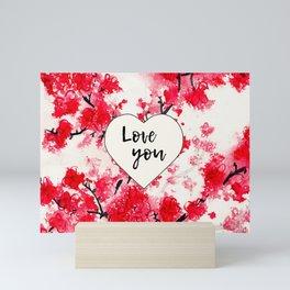 Cherry Blossoms Love You Mini Art Print
