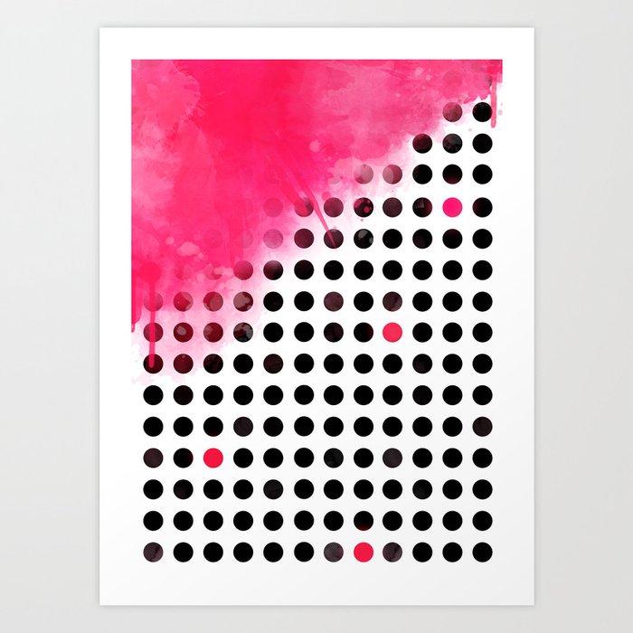 Bold Pink Polka Dots Art Print