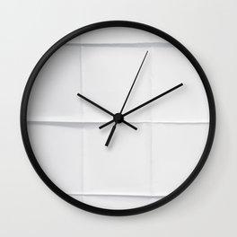 Paper Grid Wall Clock