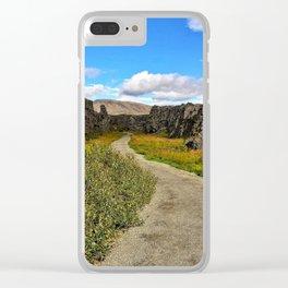 Þingvellir/Thingvellir National Park, Iceland (2) Clear iPhone Case