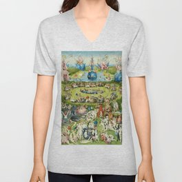 The Garden of Earthly Delights by Hieronymus Bosch Unisex V-Neck