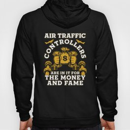 Air Traffic Controller Money ATC Flight Control graphic Hoody