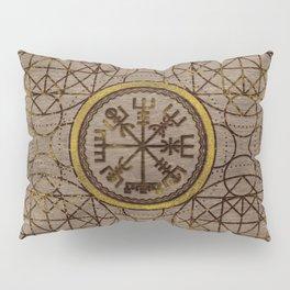 Vegvisir. The Magic Navigation Viking Compass Pillow Sham