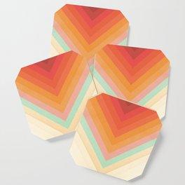 Rainbow Chevrons Coaster