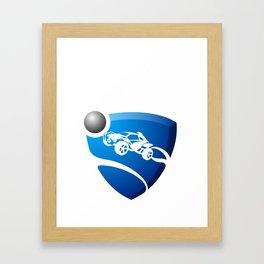 Rocket League Design Framed Art Print