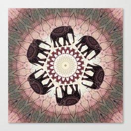 Boho Elephants Canvas Print