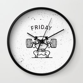 Leg Friday Wall Clock