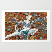 tank girl Art Prints featuring Tank Girl by Alex Bayliss