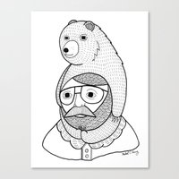 hats Canvas Prints featuring On how baby bears are often used as winter hats by Michael C. Hsiung