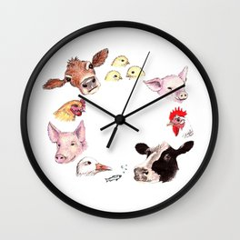 Love All Animals Wall Clock