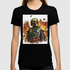 Boba Fett Black SMALL Womens Fitted Tee