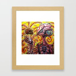 Imagining Cro magnon  Framed Art Print