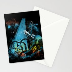 diving danger Stationery Cards