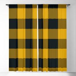 Yellow & Black Buffalo Plaid Blackout Curtain