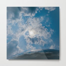 Afternoon Sky with Chicago Cloud Gate Metal Print