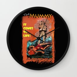Woman in the red dress meets The Mummy Wall Clock