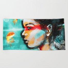 Goldfish Dreaming Beach Towel
