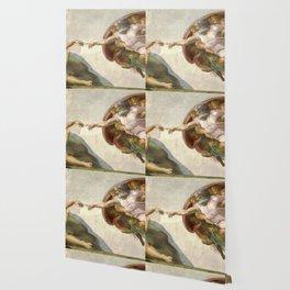 Michelangelo - Creation of Adam Wallpaper