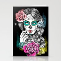 aaliyah Stationery Cards featuring Aaliyah - Day of the Dead by DejaLiyah