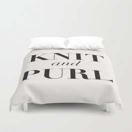 Knit & Purl Duvet Cover