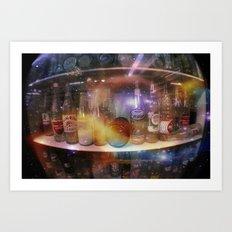 astronauts gotta drink too Art Print