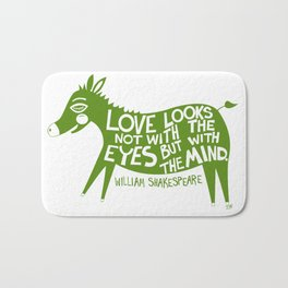 Love Looks With The Heart Bath Mat