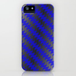 3d Blue Wavy Lines iPhone Case