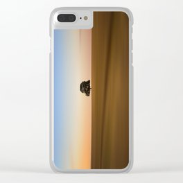 Focus on one thing at a time isolated oak tree Clear iPhone Case